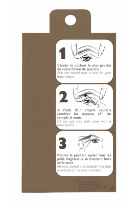 4 eyebrow stencil kit
