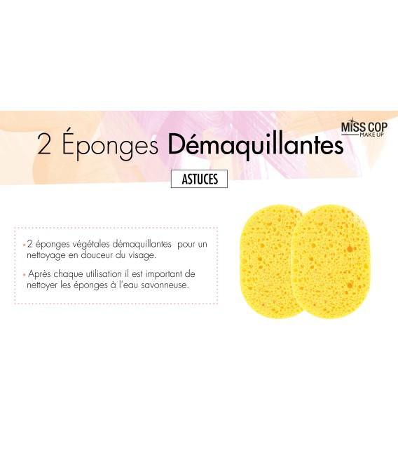 ÉPONGES DÉMAQUILLANTES X2
