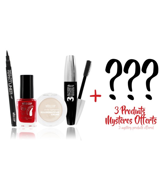 MISS BOX : 4 best seller products + 3 mystery products offered