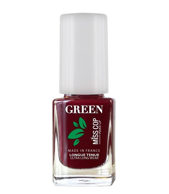 Nail polish Green organic sourced 09 Rouge noir