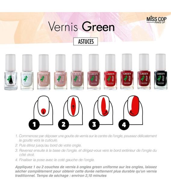 Nail polish Green organic sourced 10 noir
