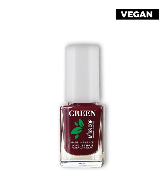 Vernis Green Bio sourcé 09 Rouge noir