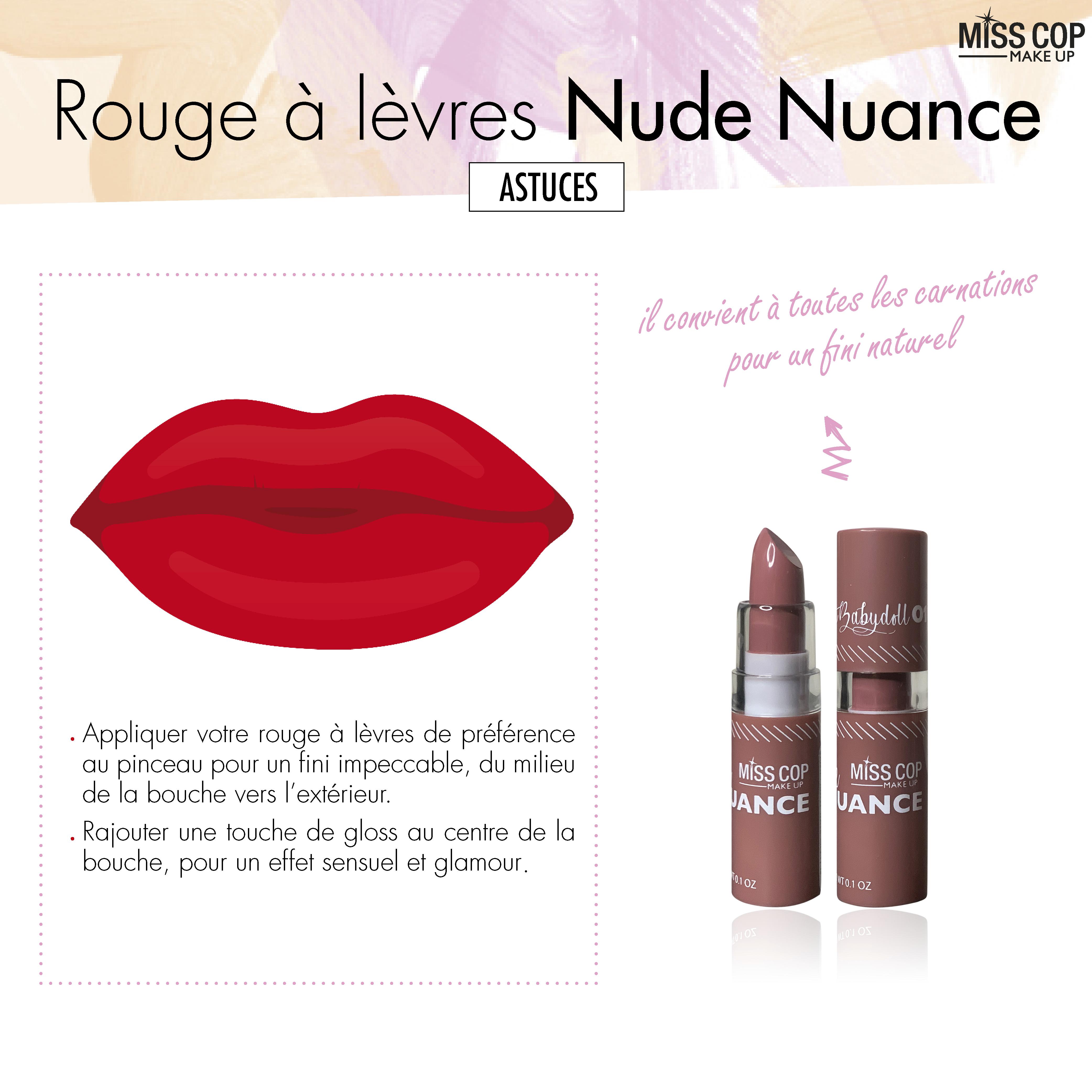 Rouge à lèvres Nude n°595- Certifié bio - AVRIL ; Bio