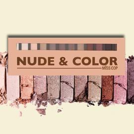 Envie d'un maquillage nude ? Craquez pour notre palette Nude & Color pour un maquillage tout en lumière.#misscop #makeup #nude #maquillage #palette #fardapaupiere #eyeshadows #eyeshadowpalette #eyeshadowspalette #yeux #eyes