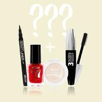 Découvrez la MISS BOX ! Elle est composé de 4 produits Bestsellers et de 3 produits mystères… #misscop #makeup #maquillage #box #missbox #mystère
